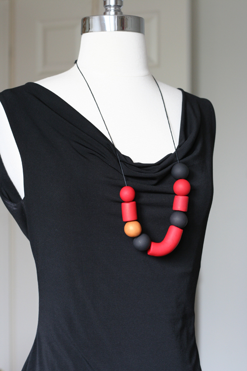 handmade clay necklace suzanne carillo