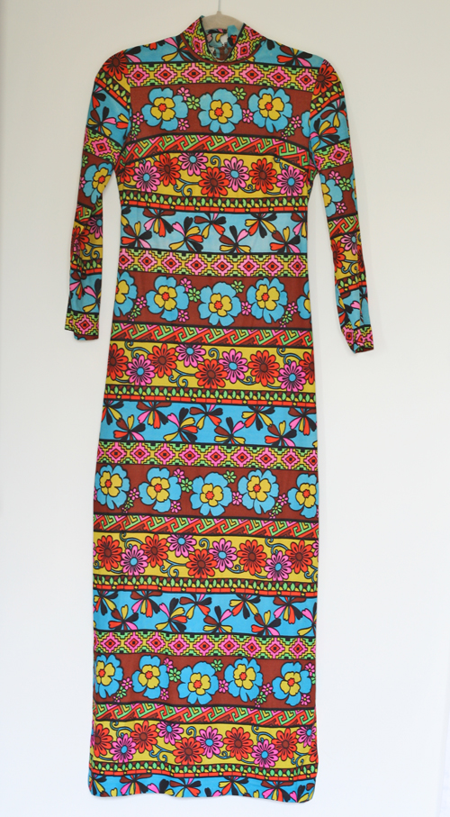 bold patterned vintage dress suzanne carillo