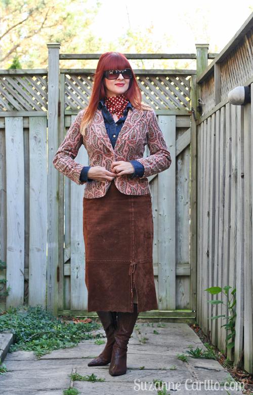 how to style one patterned blazer two ways over 40 style