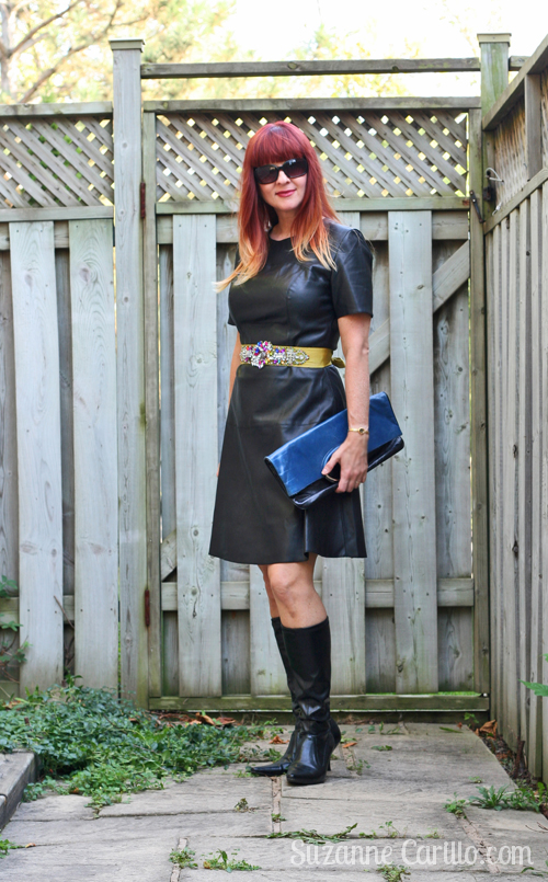 how to wear black leather over 40 suzanne carillo