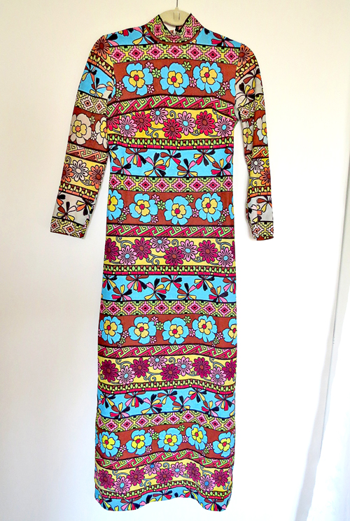 painted vintage maxi dress suzanne carillo