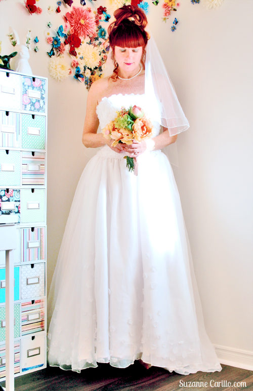 old wedding dress suzanne carillo over 40 style