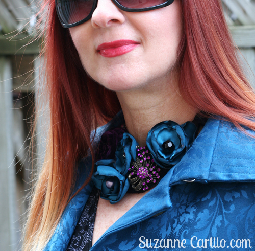 handmade fabric necklace suzanne carillo