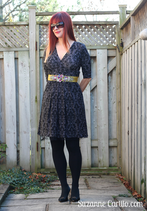 how to embellish a karina dress for the holidays suzanne carillo over 40 style