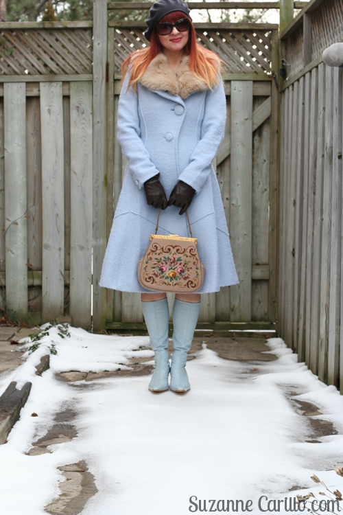 how to wear vintage over 40 suzanne carillo Collared Beatrix Coat Anthropologie