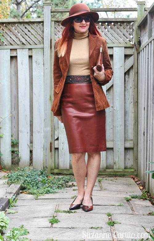 how to wear leather and suede together over 40