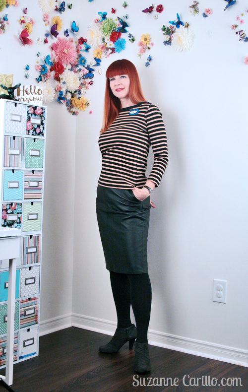 how to wear stripes and leather over 40 suzanne carillo