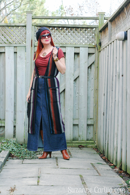 how to wear a long vest when you are petite