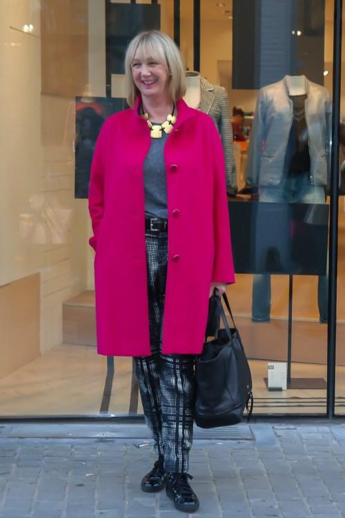 greetje pink coat