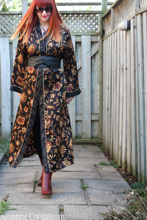 bathrobe worn as a dress how to wear a kimono dress over 40 suzanne carillo style