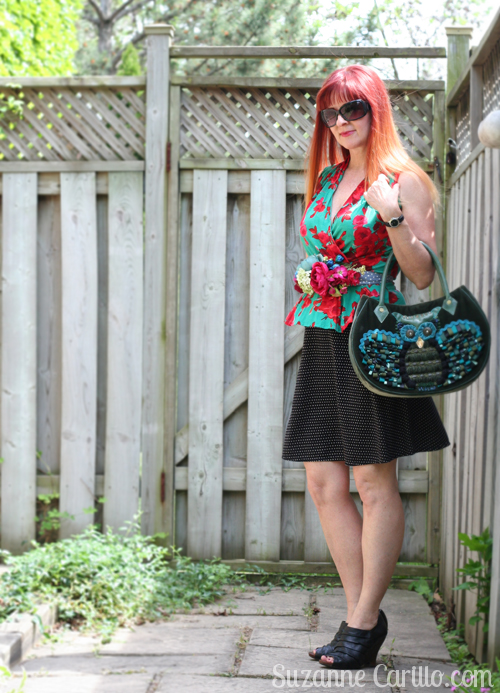 DIY floral belt style for women over 40 suzanne carillo
