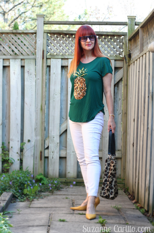 how to wear the pineapple trend style for women over 40 suzanne carillo
