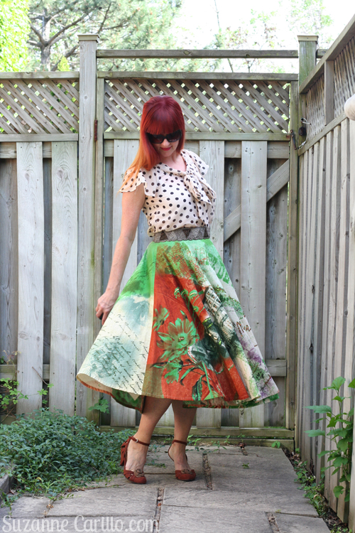 how to style a circle skirt when you are petite over 40 style suzanne carillo