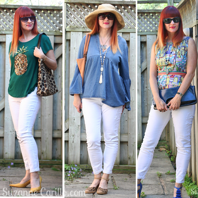 how to style white jeans over 40 suzanne carillo style