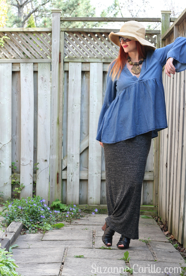 style bell sleeves over 40 suzanne carillo style
