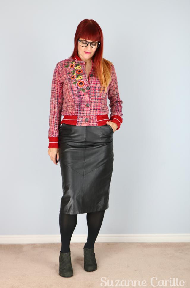 DIY embellished bomber jacket suzanne carillo style over 40