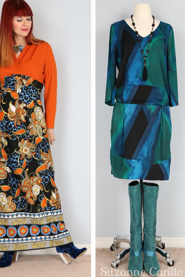 orange 1970s vintage maxi dress for sale vintagebysuzanne vintage style for women over 40
