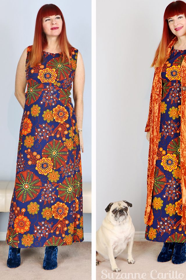 vintage bold maxi dress for sale vintagebysuzanne on etsy