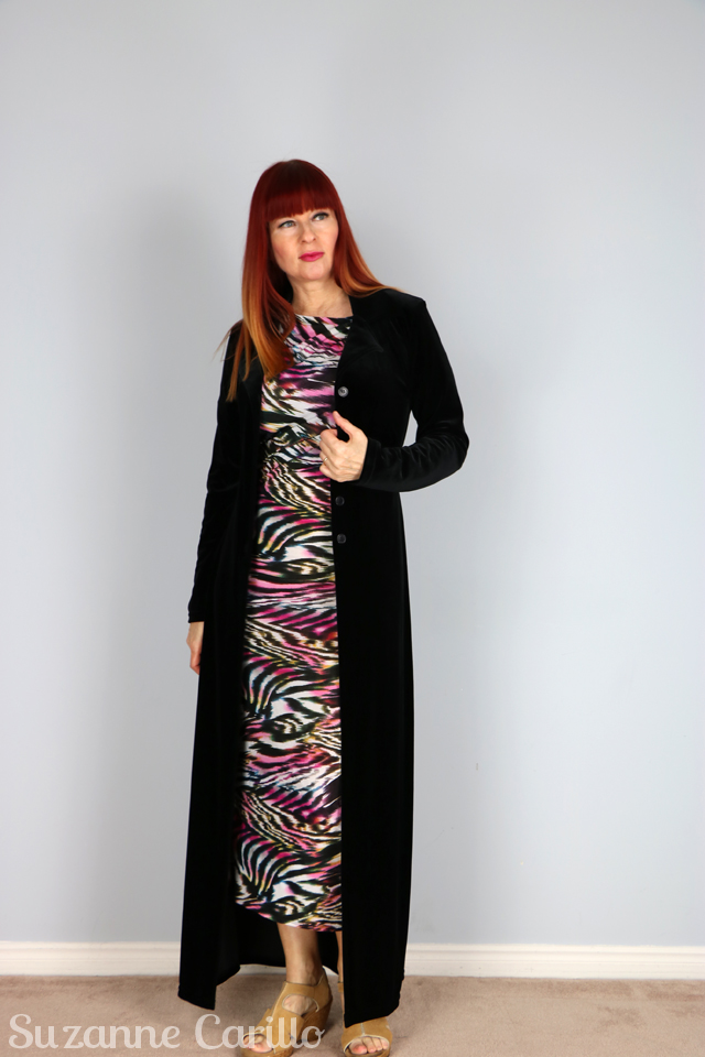 black velvet duster coverup for cuba vacation evening wear suzanne carillo