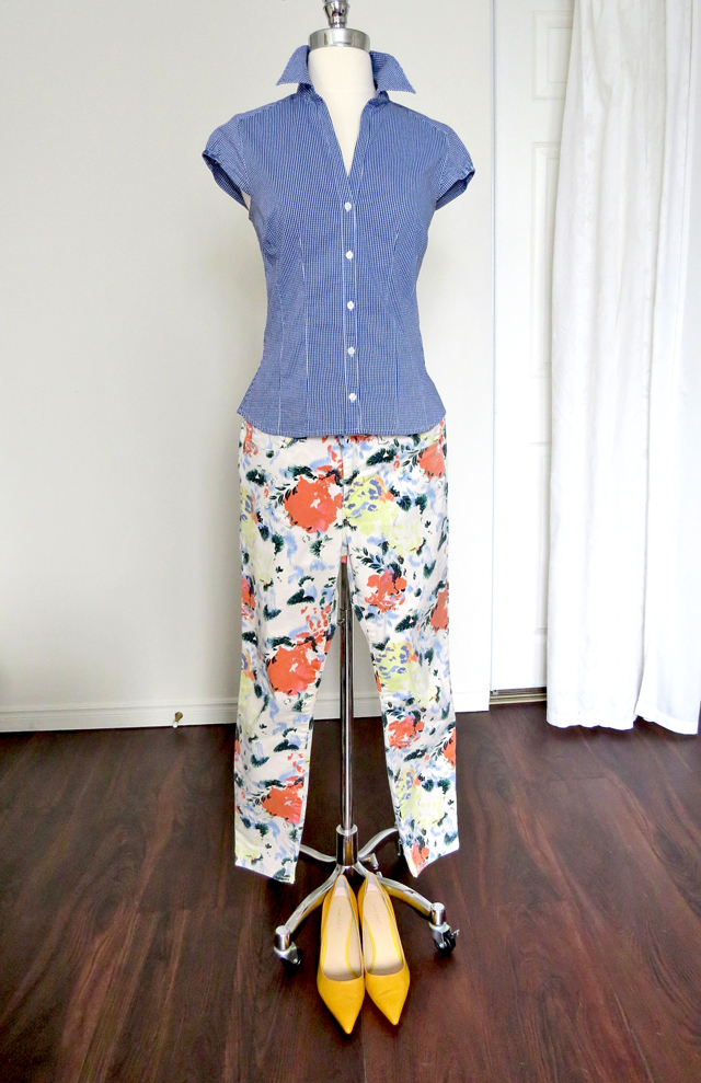 how to combine gingham prints with florals suzanne carillo style for women over 40