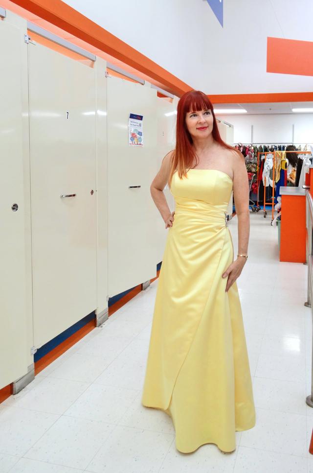 Suzanne Carillo yellow gown