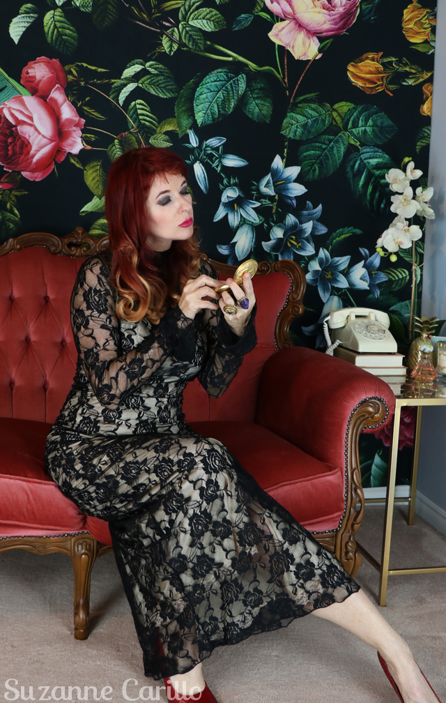 vintage lace maxi dress suzanne carillo