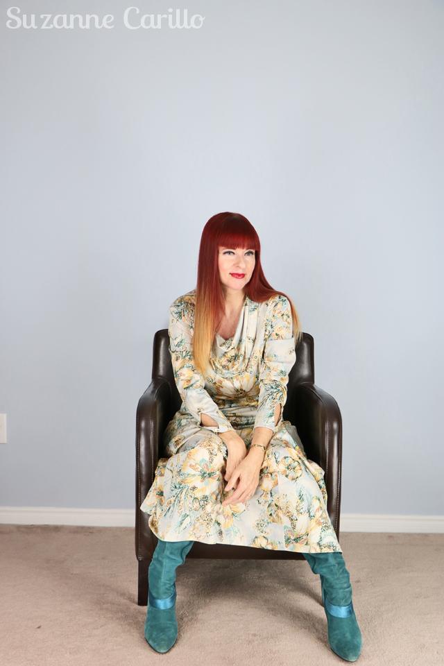 vintage cowl neck maxi dress suzanne carillo
