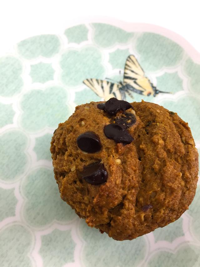 pumpkin chocolate muffins suzanne carillo