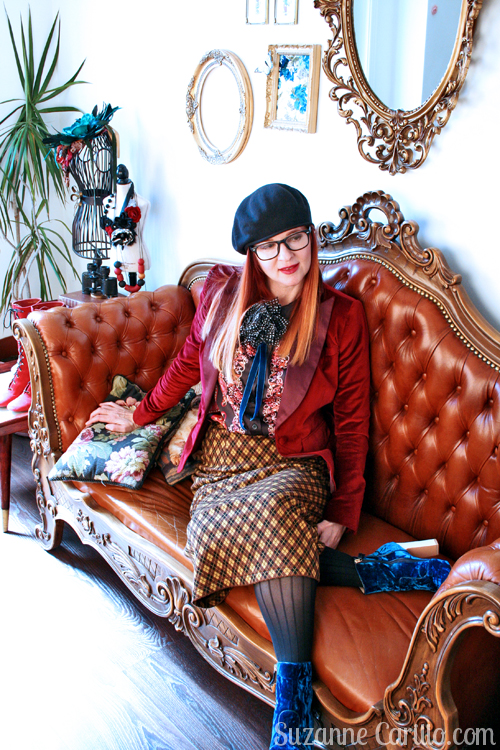 DIY thrifted Gucci inspired look. Gucci geek style suzanne carillo mature woman style
