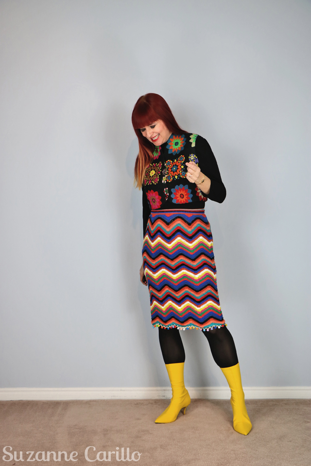 how to wear bold patterns over 40 suzanne carillo