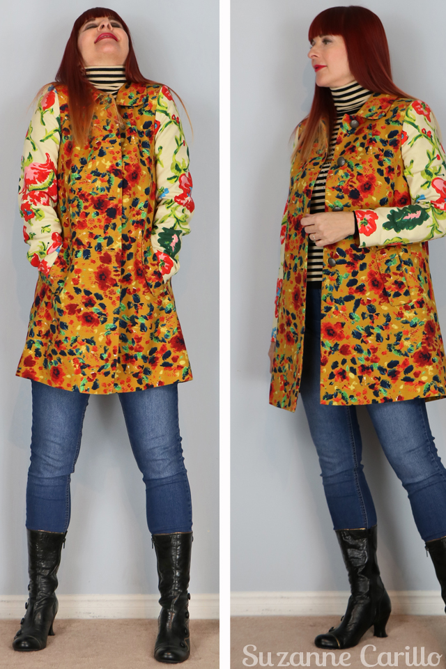 anthropologie multicoloured leopardlily canvas coat