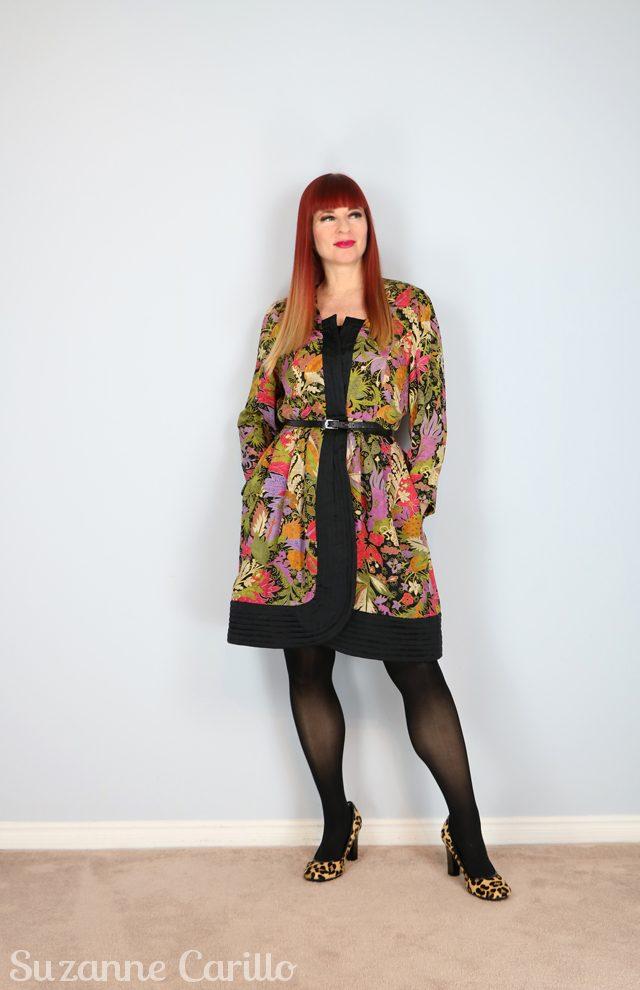 vintage silk housecoat dress for sale vintagebysuzanne on etsy
