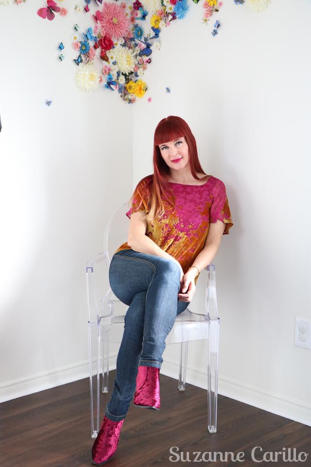 redhead in pink suzanne carillo