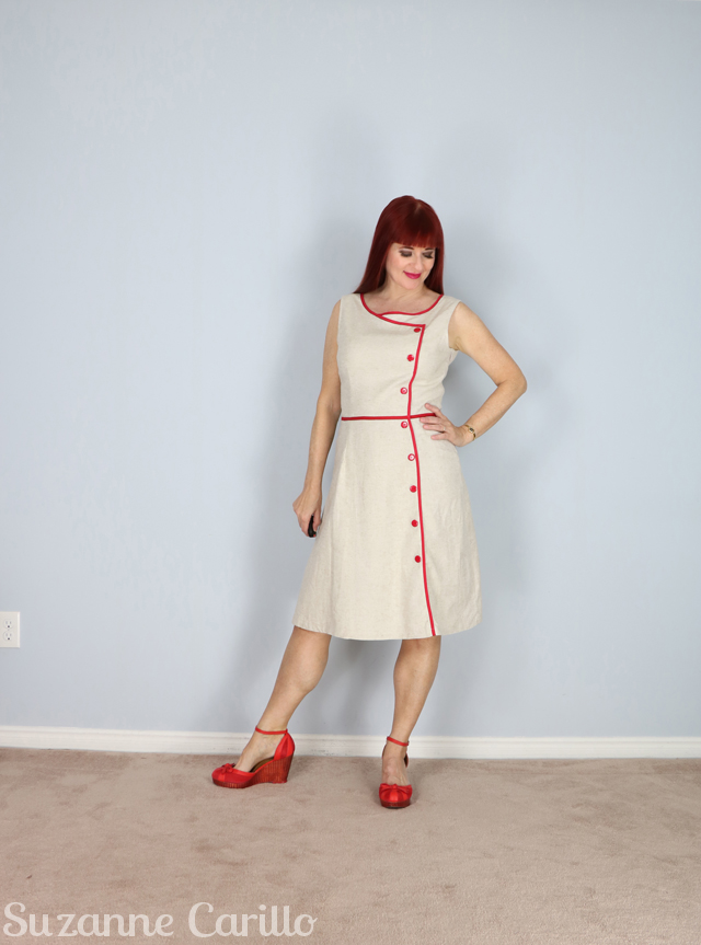 1950s reproduction vintage dress suzanne carillo