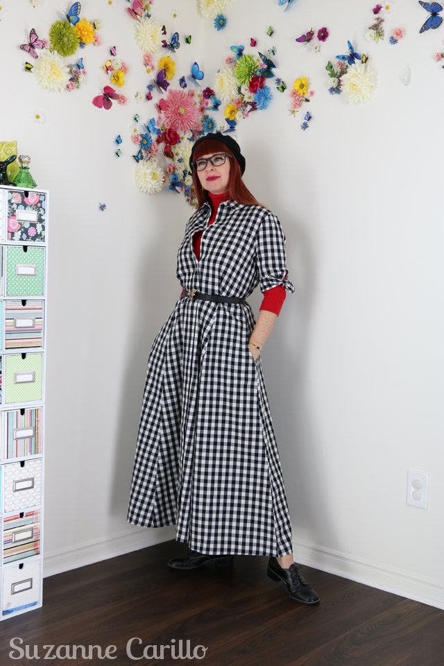 how to layer a gingham dress suzanne carillo style