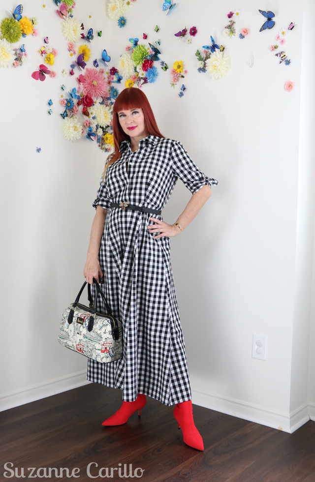 how to wear gingham over 50 suzanne carillo
