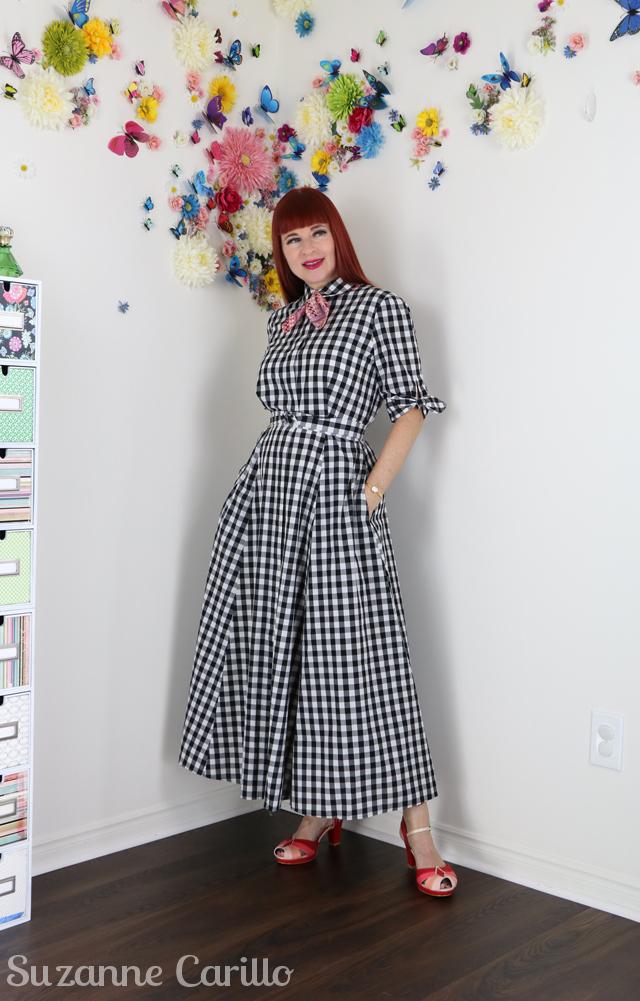 wear a midi dress when you are short suzanne carillo style