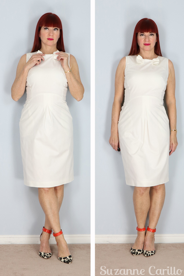 white designer dress for sale suzanne carillo style
