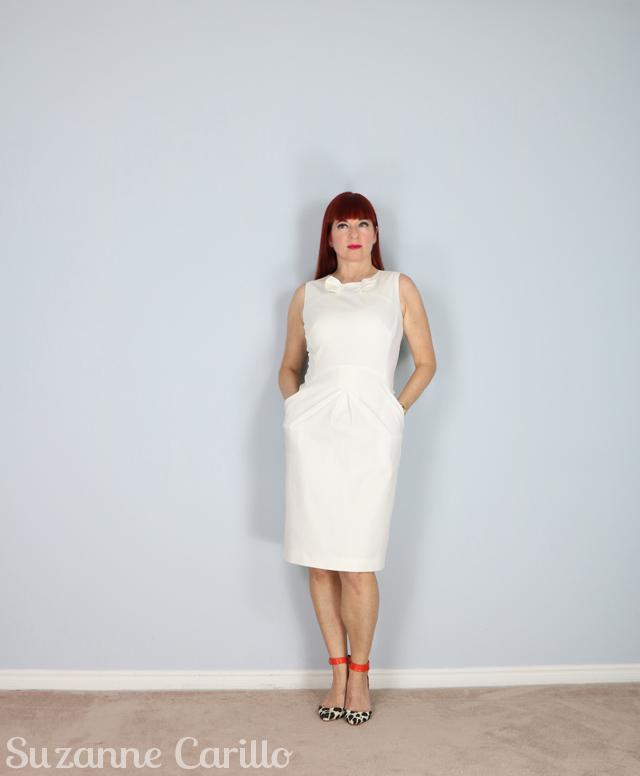 white designer italian dress for sale suzanne carillo