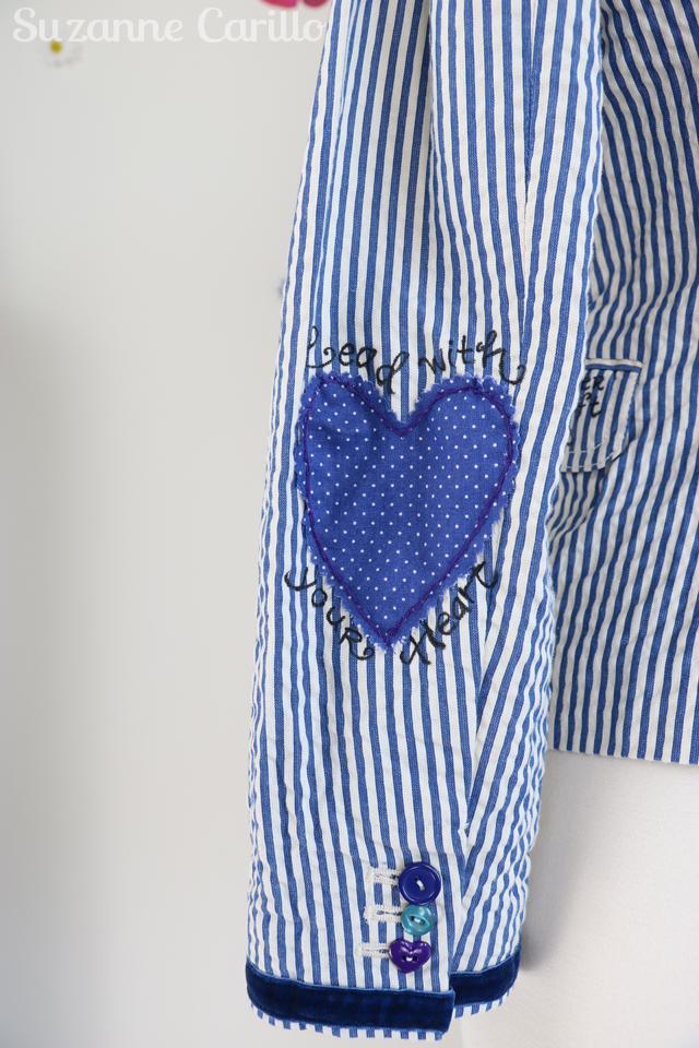 DIY embellished blazer suzanne carillo