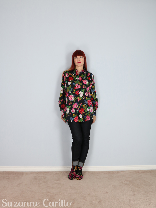 Dressing someone just not myself. How to make yourself look short and fat by wearing an oversized large print suzanne carillo