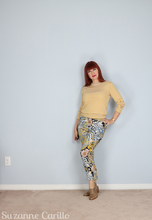 how to style crazy patterned pants suzanne carillo style