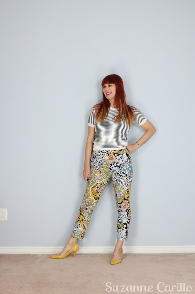 how to style patterned pants suzanne carillo style