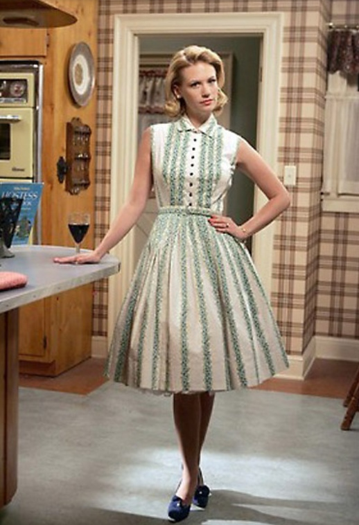 betty draper fit and flare dress