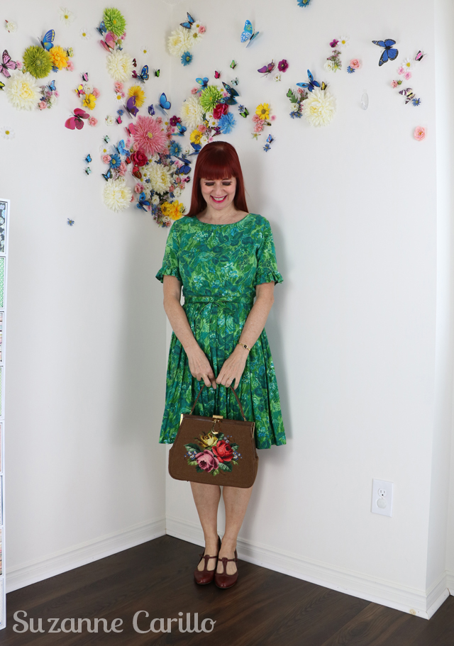 how to wear classic fit and flare vintage dress over 40 suzanne carillo