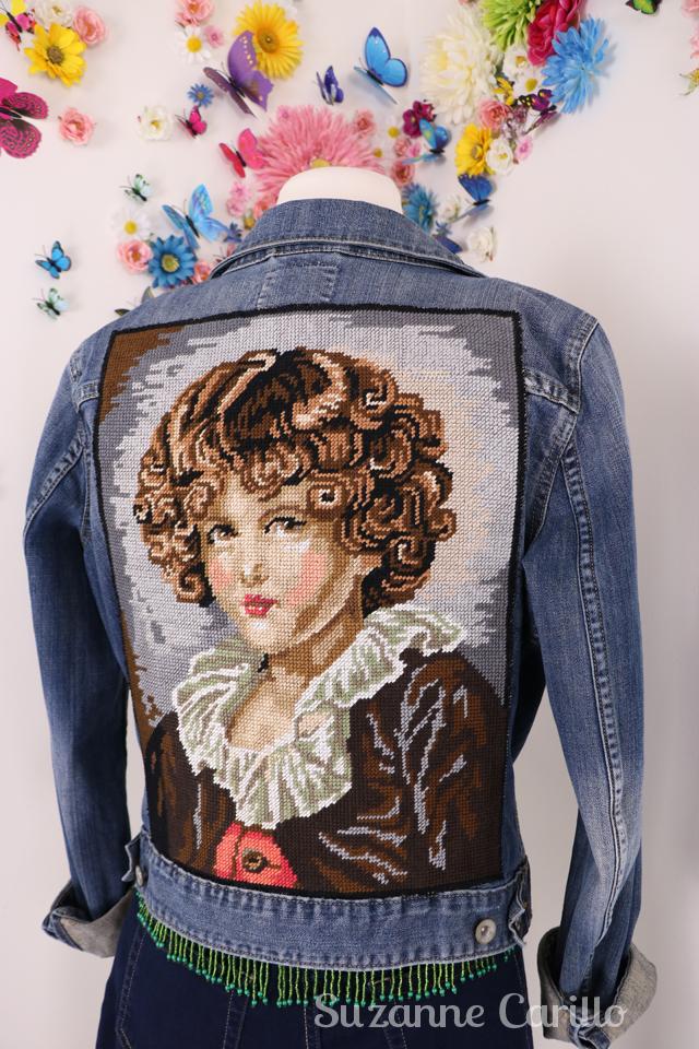 jean jacket upcycle DIY