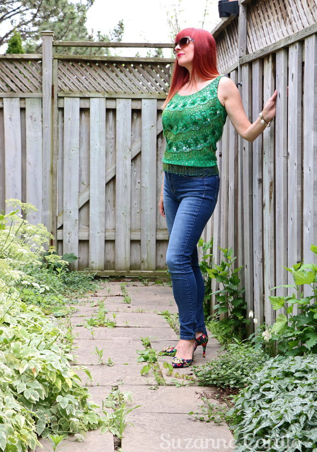 update a vintage sequinned top suzanne carillo wear vintage over 40