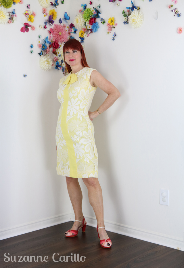 vintage love daisy shift dress