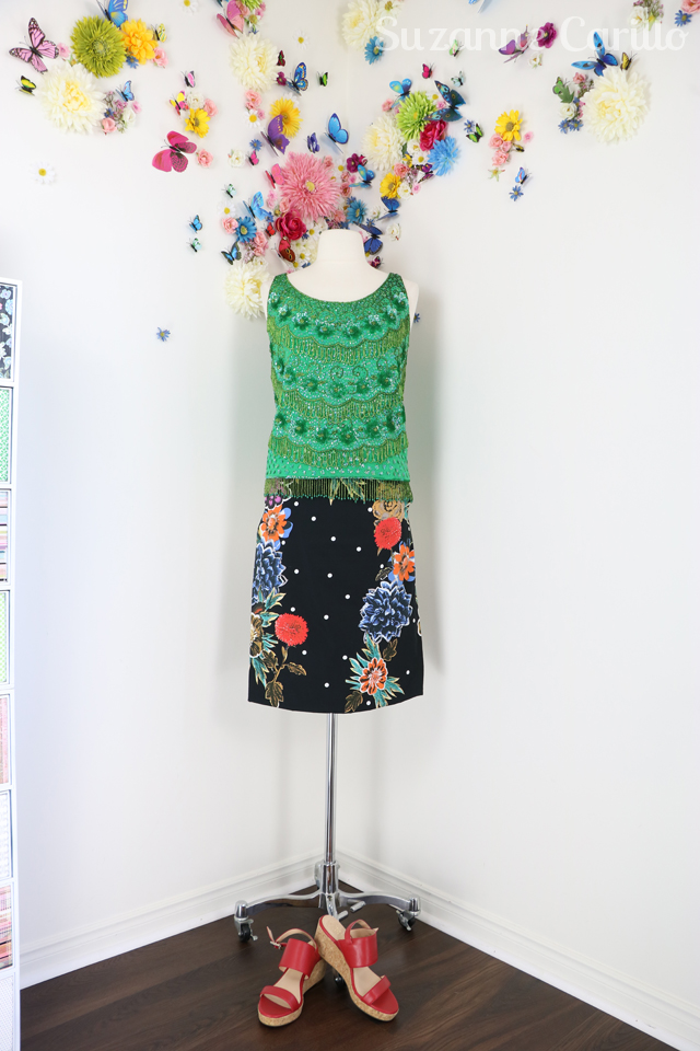 wear a vintage beaded top contemporary suzanne carillo style
