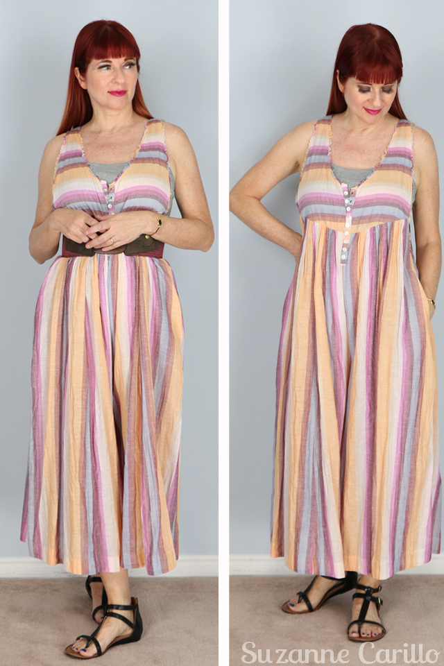 Trying something new free people striped summer jumpsuit suzanne carillo